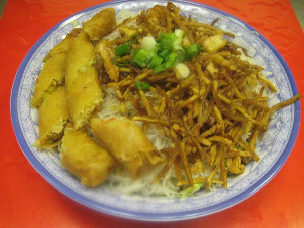 Rice Vermicelli Vegetable Spring Roll Shredded Vegetables